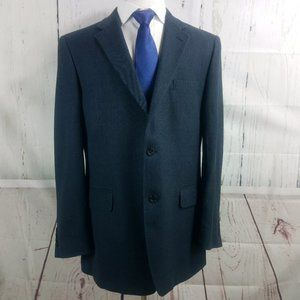 Jos A Bank Tailored Fit Blue Suit Blazer Sport Coa